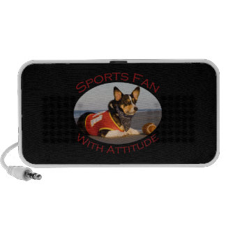 Sports Fan with Attitude iPhone Speakers