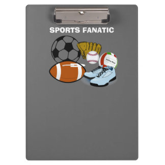 Sports Fanatic Clipboard