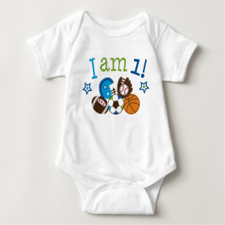Sports First Birthday Personalized Baby T-Shirt
