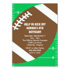 Sports Football Birthday Party Card