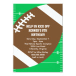 Sports Football Birthday Party 11 Cm X 16 Cm Invitation Card