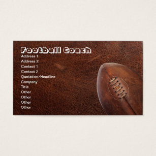 Football teams business cards business card printing zazzle uk sports football coach or team player business card reheart