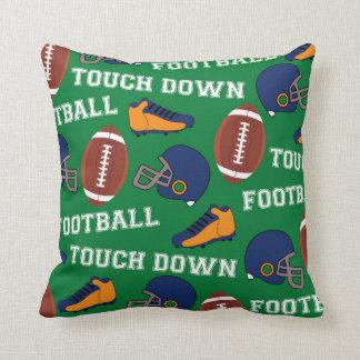 SPORTS Football Fun Athlete Colorful Pattern Pillow