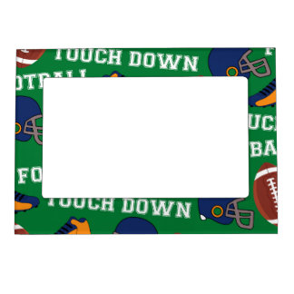 SPORTS Football Fun Athlete Colorful Pattern Frame Magnets