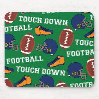 SPORTS Football Fun Athlete Colorful Pattern Mouse Pad
