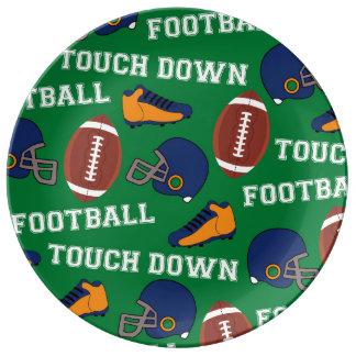 SPORTS Football Fun Athlete Colorful Pattern Porcelain Plates