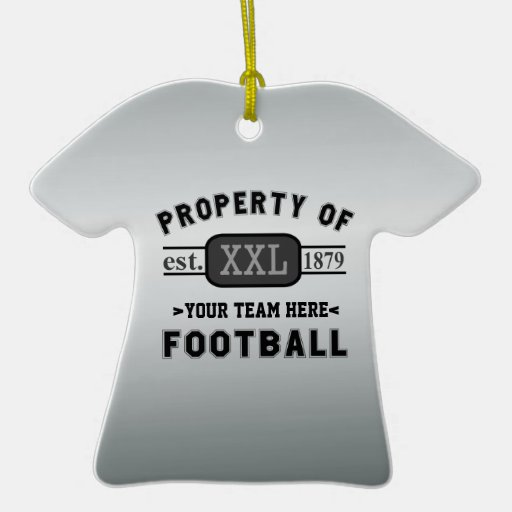 Sports Football: Property of Your Team Customised Ceramic T-Shirt Decoration