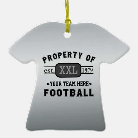 Sports Football: Property of Your Team Customised Christmas Ornament