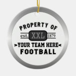 Sports Football Property of Your Team Customised Round Ceramic Decoration