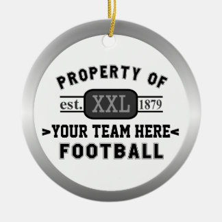 Sports Football Property of Your Team Customized Christmas Ornament