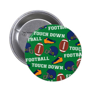 SPORTS Football Touch Down Fun Colorful Pattern 6 Cm Round Badge