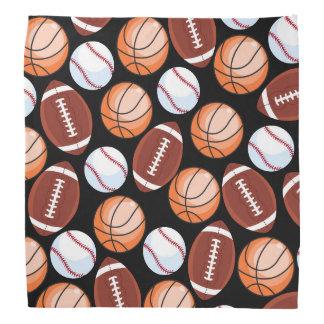 SPORTS FUN Baseball Football Basketball Pattern Bandana
