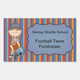 Sports Fundraiser Customizable Sticker Football