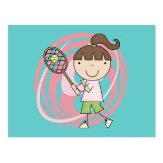 Sports Girl Tennis Tshirts and Gifts Post Cards