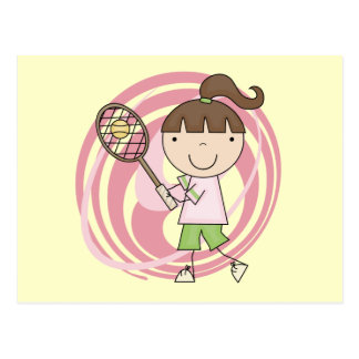Sports Girl Tennis Tshirts and Gifts Post Card