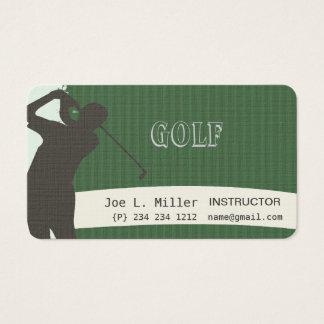 Sports  Green Golfer Patterns Business Card