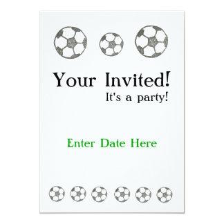 """Sports Invite #1 5"""" X 7"""" Invitation Card"""