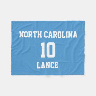 Sports Jersey Customized Celestial Blue Fleece Blanket
