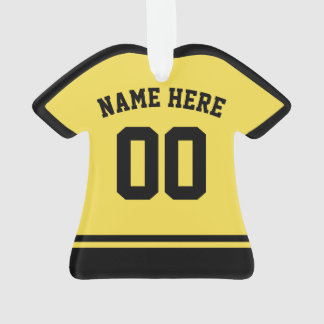 Sports Jersey Name & Number Ornament Template