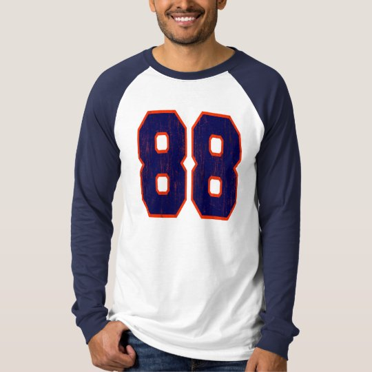 SPORTS JERSEY NUMBER 88 DISTRESSED T-Shirt