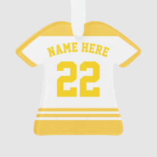 Sports Jersey Shirt Name Number Ornament Template