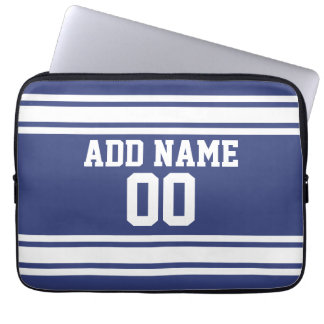 Sports Jersey with Custom Name and Number Laptop Sleeve