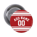 Sports Jersey with Your Name and Number 6 Cm Round Badge