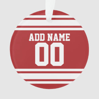 Sports Jersey with Your Name and Number Ornament