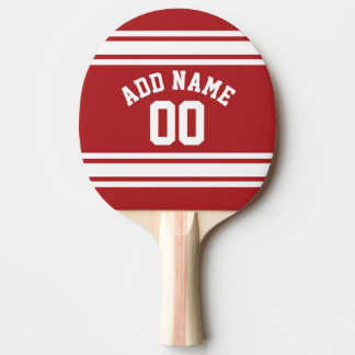 Sports Jersey with Your Name and Number Ping Pong Paddle