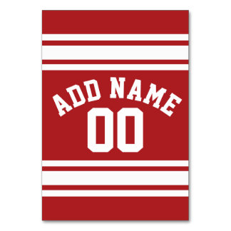 Sports Jersey with Your Name and Number Table Card