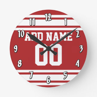 Sports Jersey with Your Name and Number Wallclocks