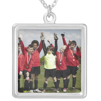 Sports, Lifestyle, Football 2 Silver Plated Necklace