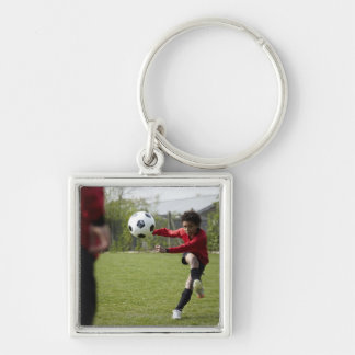 Sports, Lifestyle, Football 4 Silver-Colored Square Key Ring