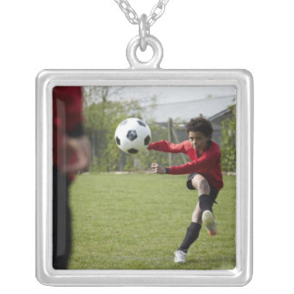 Sports, Lifestyle, Football 4 Silver Plated Necklace