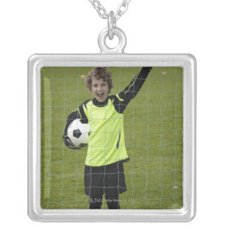 Sports, Lifestyle, Football 7 Square Pendant Necklace