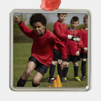 Sports, Lifestyle, Football Silver-Colored Square Decoration