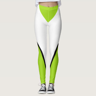 Sports Lime Bold Designer Sporty Chic Leggings