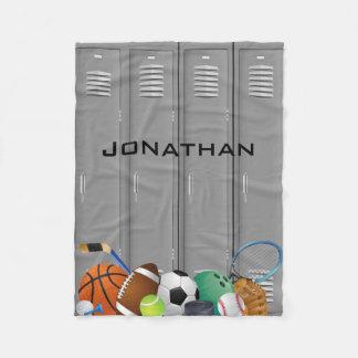 Sports Locker Design Fleece Blanket