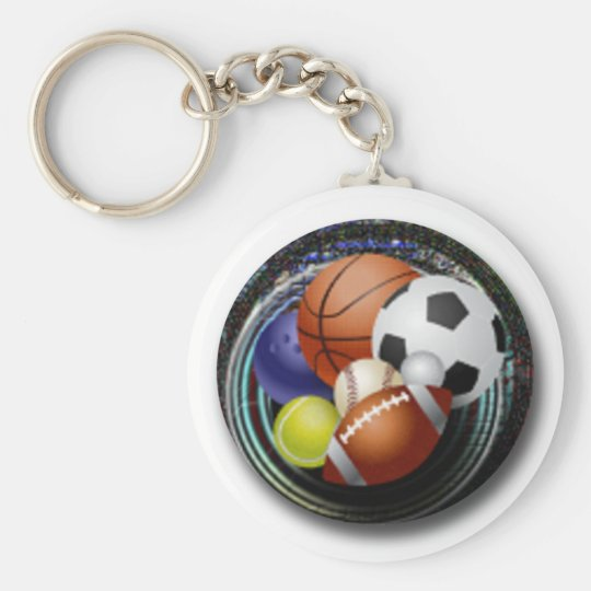 Sports Lover Basic Round Button Key Ring
