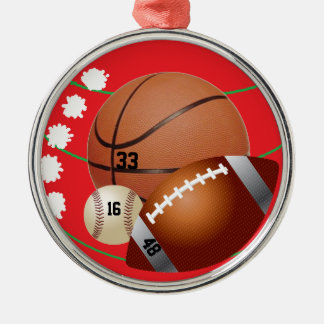 Sports lover christmas ornament