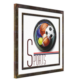 Sports lover stretched canvas print
