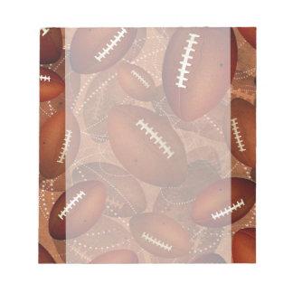 sports men's football pattern notepad