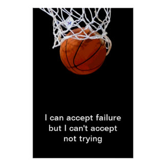 Sports Motivational Quote Basketball Print
