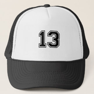 sports number 13 trucker hat