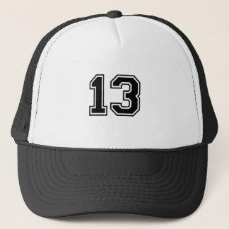 sports number 13 trucker hat