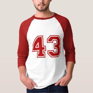 Sports number 43 tshirt