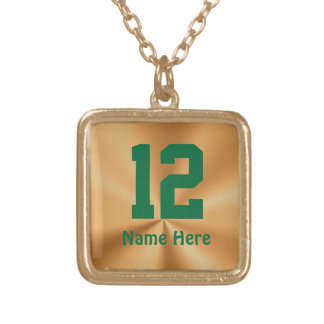 Sports Number Necklaces with YOUR NAME and NUMBER