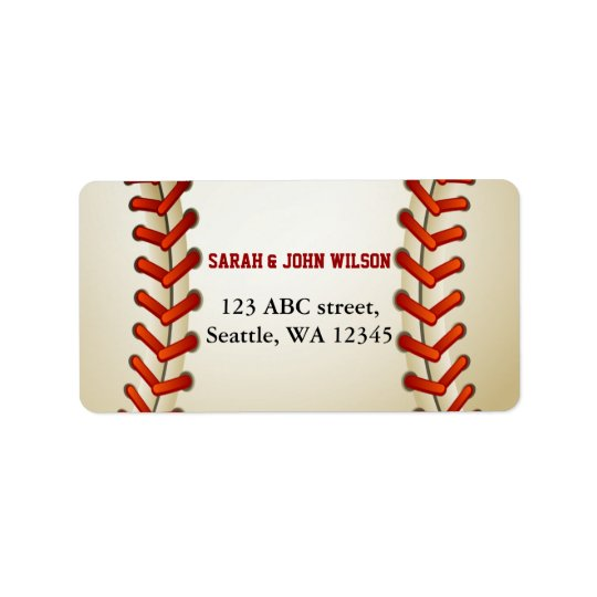 Sports Party Baseball theme address label