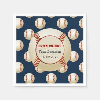 Sports Party Baseball theme Personalized napkins Disposable Serviettes
