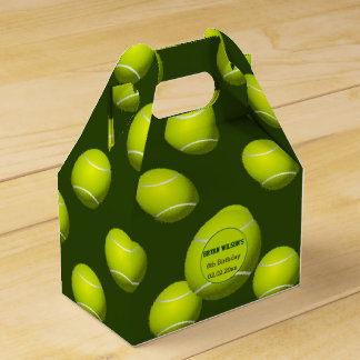 Sports Party Tennis theme Personalized favor box